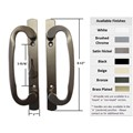 "Sliding Glass Patio Door Handle Set, Mortise Type, Bronze, 3-15/16"" Screw Holes, 8-1/2"" Mounting Surface"