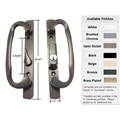 "Sliding Glass Patio Door Handle Set, Mortise Type, Keyed, Bronze, 3-15/16"" Screw Holes"