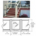 "CRL Oyster White 36"" 100 Series Aluminum Railing System Gate for 1/4"" to 3/8"" Glass"