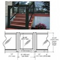 "CRL Matte Black 36"" 100 Series Aluminum Railing System Gate for 1/4"" to 3/8"" Glass"