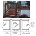 "CRL Matte Bronze 36"" 100 Series Aluminum Railing System Gate for 1/4"" to 3/8"" Glass"