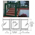 "CRL Forest Green 36"" 100 Series Aluminum Railing System Gate for 1/4"" to 3/8"" Glass"