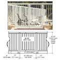 "CRL Oyster White 36"" Aluminum Railing System Gate With Picket for 1/4"" to 3/8"" Glass"