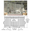 "CRL Beige Gray 36"" Aluminum Railing System Gate With Picket for 1/4"" to 3/8"" Glass"