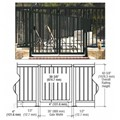 "CRL Matte Black 36"" Aluminum Railing System Gate With Picket for 1/4"" to 3/8"" Glass"