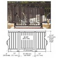 "CRL Matte Bronze 36"" Aluminum Railing System Gate With Picket for 1/4"" to 3/8"" Glass"