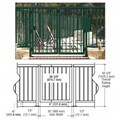 "CRL Forest Green 36"" Aluminum Railing System Gate With Picket for 1/4"" to 3/8"" Glass"