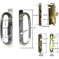 Sliding Glass Patio Door Handle Kit with Mortise Lock and Keepers, B-Position, Satin Nickel, Keyed