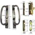 Sliding Glass Patio Door Handle Kit with Mortise Lock and Keepers, B-Position, Bronze, Keyed