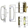 STB Sliding Glass Patio Door Handle Kit with Mortise Lock and Keeper, White, Non-Keyed
