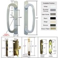 Sliding Glass Patio Door Handle Kit with Mortise Lock and Keepers, A-Position, White, Non-Keyed