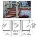 "CRL Agate Gray 36"" 350 Series Aluminum Railing System Gate for 1/4"" to 3/8"" Glass"