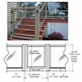 "CRL Beige Gray 36"" 350 Series Aluminum Railing System Gate for 1/4"" to 3/8"" Glass"