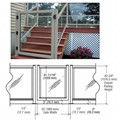 "CRL Agate Gray 36"" 300 Series Aluminum Railing System Gate for 1/4"" to 3/8"" Glass"
