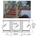 "CRL Beige Gray 36"" 300 Series Aluminum Railing System Gate for 1/4"" to 3/8"" Glass"