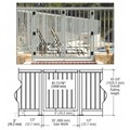 "CRL Agate Gray 36"" 300 Series Aluminum Railing System Gate With Picket"