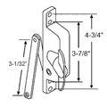 "STB Jalousie Window Operator, Non-handed, Bronze, 3-1/32"" Arm, for Air Control Windows"