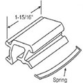 STB Sliding Window Latch and Pull, Extruded Aluminum, with Spring, Bronze, 1-15/16""