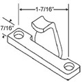"STB Casement Window Keeper, 1-3/8"" Screw Holes"