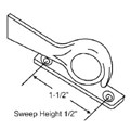"STB Sweep Lock, Bronze Casting, White Bronze, 1-1/2"" Screw Holes"