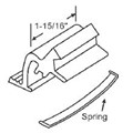 STB Sliding Window Latch and Pull, Extruded Aluminum, with Spring, Mill, 1-15/16""