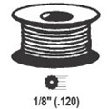 "STB Hollow Ribbed Screen Retainer Spline, Gray, 1/8"", 100 Foot Roll"