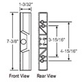 "STB Sliding Glass Patio Door Outside Pull for Internal Locking Handle Set, Metal, Black, 3-15/16"" or 4-15/16""  Screw Holes"
