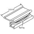 STB Sliding Window Latch and Pull, Extruded Aluminum, with Spring, Almond, 2-3/16""