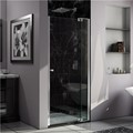 DreamLine SHDR-4236728-01 ALLURE 36 to 37 Frameless Pivot Shower Door, Clear Glass Door in Chrome Finish