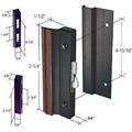 "Sliding Glass Patio Door Handle, Hook Style, Surface Mount, 1-1/2"" Standard Handle Profile, 4-15/16"" Screw Holes, Black"