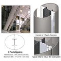 CRL Custom Brushed Stainless Deluxe Series Elliptical Column Covers Two Panels Opposing