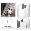 CRL Custom Bone White Deluxe Series Elliptical Column Covers Two Panels Opposing