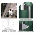CRL Custom Kynar Painted Deluxe Series Elliptical Column Covers Two Panels Opposing