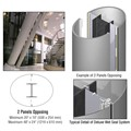 CRL Custom Non-Directional Stainless Deluxe Series Elliptical Column Covers Two Panels Opposing