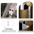 CRL Custom Polished Bronze Deluxe Series Elliptical Column Covers Two Panels Opposing