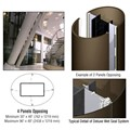 CRL Custom Brushed Bronze Deluxe Series Elliptical Column Covers Four Panels Opposing