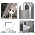 CRL Custom Brushed Stainless Deluxe Series Elliptical Column Covers Four Panels Opposing