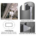 CRL Custom Mica Platinum Deluxe Series Elliptical Column Covers Four Panels Opposing