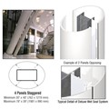 CRL Custom Bone White Deluxe Series Elliptical Column Covers Four Panels Staggered
