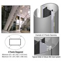 CRL Custom Non-Directional Stainless Deluxe Series Elliptical Column Covers Four Panels Staggered