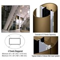 CRL Custom Polished Bronze Deluxe Series Elliptical Column Covers Four Panels Staggered