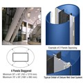 CRL Custom Powder Painted Deluxe Series Elliptical Column Covers Four Panels Staggered