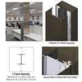 CRL Custom Oil Rubbed Bronze Deluxe Series Square Column Covers Two Panels Opposing