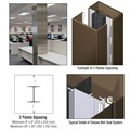 CRL Custom Brushed Bronze Deluxe Series Square Column Covers Two Panels Opposing