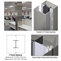 CRL Custom Brushed Stainless Deluxe Series Square Column Covers Two Panels Opposing