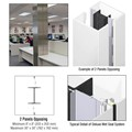 CRL Custom Bone White Deluxe Series Square Column Covers Two Panels Opposing