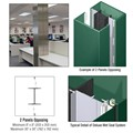 CRL Custom Kynar Painted Deluxe Series Square Column Covers Two Panels Opposing