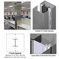 CRL Custom Mica Platinum Deluxe Series Square Column Covers Two Panels Opposing
