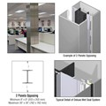 CRL Custom Non-Directional Stainless Deluxe Series Square Column Covers Two Panels Opposing