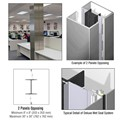 CRL Custom Polished Stainless Deluxe Series Square Column Covers Two Panels Opposing